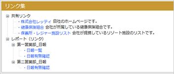 トップページのポートレットはツリー表示